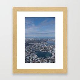 Winter City Framed Art Print