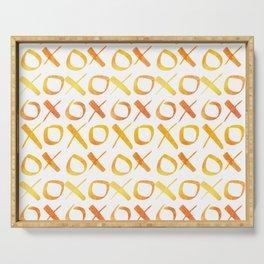 xoxo Watercolor Yellow Orange Serving Tray