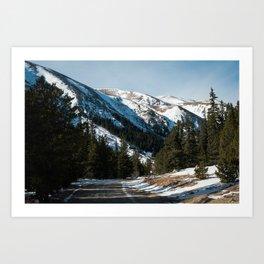 Keystone Mountains Art Print