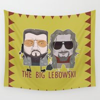 big lebowski Wall Tapestries featuring The Big Lebowski by Francesco Dibattista