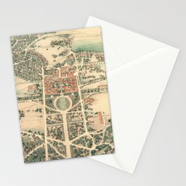 Vintage Pictorial Map of Stanford Stationery Cards