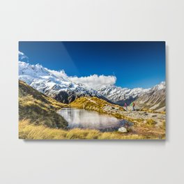 New Zealand Mount Cook Aoraki Metal Print