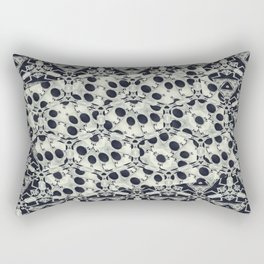 Black and White Fusions Rectangular Pillow