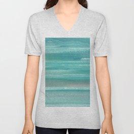 Turquoise Geode Unisex V-Neck