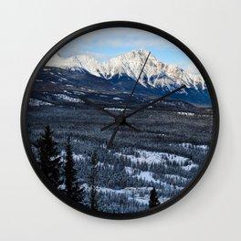 Pyramid Mountain in the Winter, Alberta Wall Clock