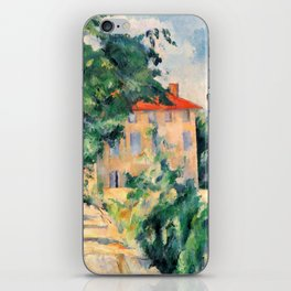 """Paul Cezanne """"House with red roof"""", 1890 iPhone Skin"""