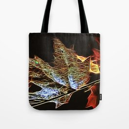 Fall Leaf Abtract Tote Bag