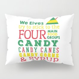 Elves food Groups - Elf the movie Pillow Sham