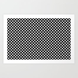 Black and white small dots Art Print
