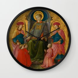 "Fra Filippo Lippi ""Saint Lawrence Enthroned with Saints and Donors"" Wall Clock"