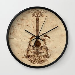 The Guitar's Song Wall Clock