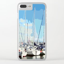 Harbor flair Clear iPhone Case