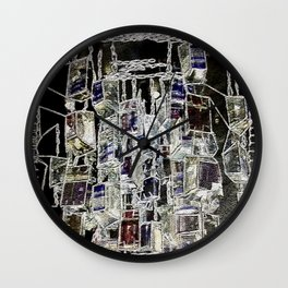 Abstract cityscape Wall Clock