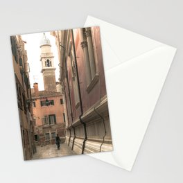 living in Venice 2  Venitian street life simply Stationery Cards