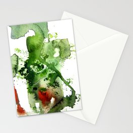 Watercolor Green Stationery Cards