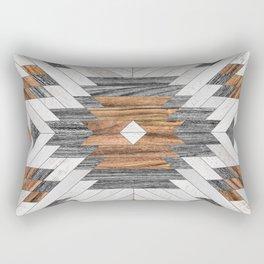 Urban Tribal Pattern No.8 - Aztec - Wood Rectangular Pillow
