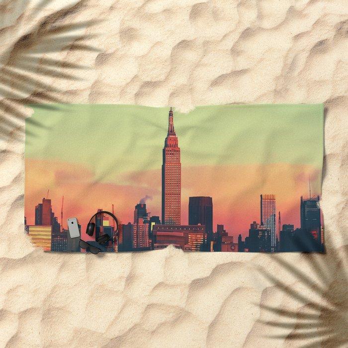 NYC Skyline Beach Towel