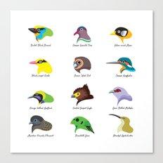 Montane Birds Series 2 Canvas Print