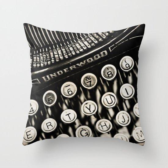 Underwood  typewriter Throw Pillow