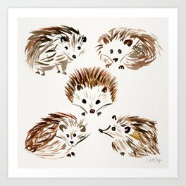 Hedgehogs Art Print