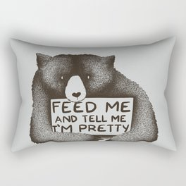 Feed Me And Tell Me I'm Pretty Bear Rectangular Pillow