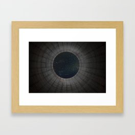 Looking up a Nuclear Cooling Tower Framed Art Print
