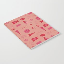 Patches - Pink + Red Notebook