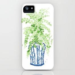 Ginger Jar + Maidenhair Fern iPhone Case