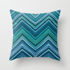 Chevron pattern with thin zigzag lines Throw Pillow