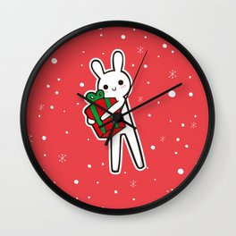 xmas bunny Wall Clock