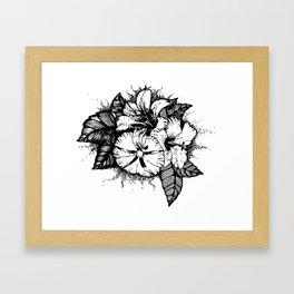 jacinto, hibisco e ipomea Framed Art Print