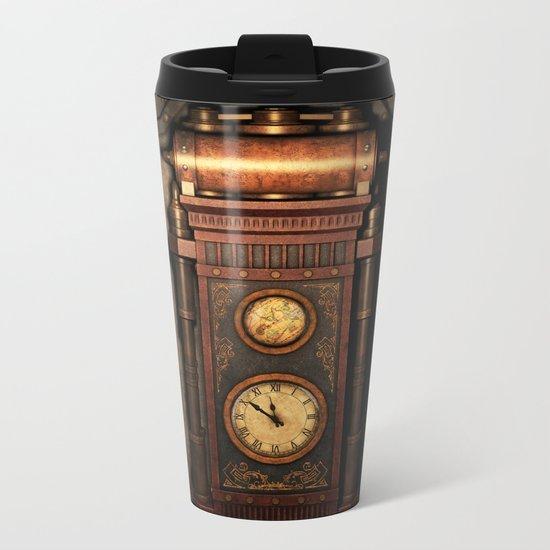 Steampunk Generator Bronze Metal Travel Mug