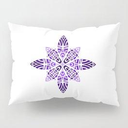 #11 Purple Violet Blue Geometric Floral Leaves Ornament Pillow Sham