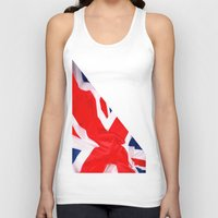 british flag Tank Tops featuring Im British by Stitched up designs
