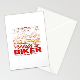 In love with a Biker Stationery Cards