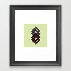 #7 Diamond-d-d-d – Geometry Daily Framed Art Print