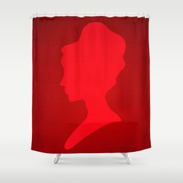 The Red Lady  Shower Curtain