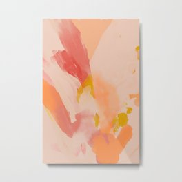 Abstract Peach Watercolor Metal Print