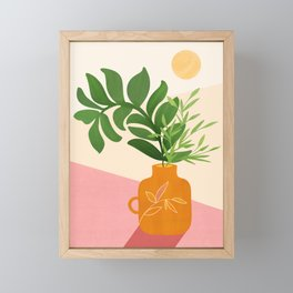 Greenery + Sunlight / Botanical Still Life Framed Mini Art Print