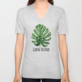 Tropical Leaf Unisex V-Neck
