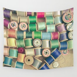 Cotton Reels Wall Tapestry