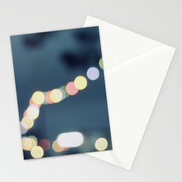 Along the bokeh line Stationery Cards