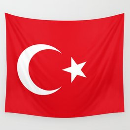 National flag of Turkey, Authentic color & scale Wall Tapestry