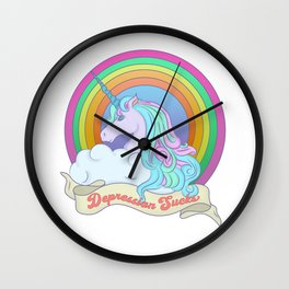 Depression Sucks Wall Clock