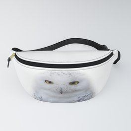 Dreamy Encounter with a Serene Snowy Owl Fanny Pack