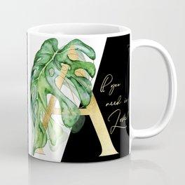 All you need is love. Gold Coffee Mug