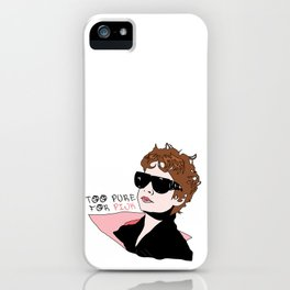 Too Pure for Pink (Ladies) iPhone Case