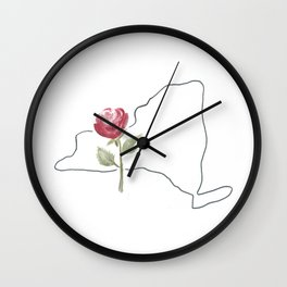 NY // rose Wall Clock