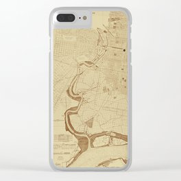Map of Philadelphia 1892 Clear iPhone Case