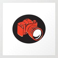 DSLR digital camera front retro Art Print